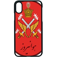 Seal Of The Imperial Iranian Army Aviation  Apple Iphone X Seamless Case (black)