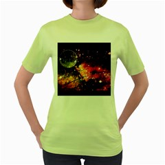 Letter From Outer Space Women s Green T Shirt