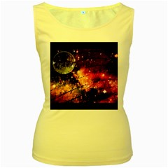 Letter From Outer Space Women s Yellow Tank Top