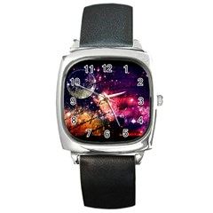 Letter From Outer Space Square Metal Watch