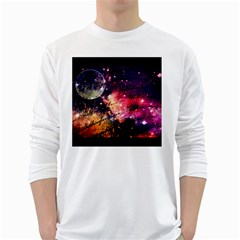 Letter From Outer Space White Long Sleeve T Shirts
