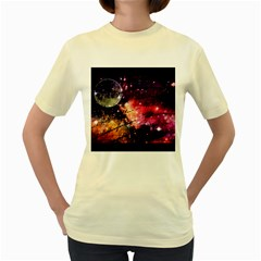 Letter From Outer Space Women s Yellow T Shirt