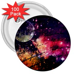 Letter From Outer Space 3  Buttons (100 Pack)