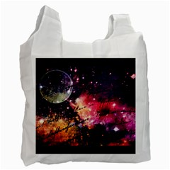Letter From Outer Space Recycle Bag (one Side)