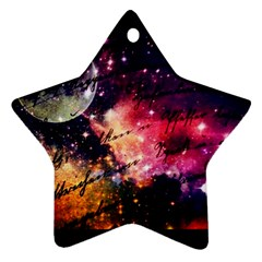 Letter From Outer Space Star Ornament (two Sides)