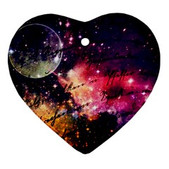 Letter From Outer Space Heart Ornament (two Sides)