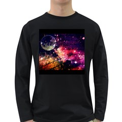 Letter From Outer Space Long Sleeve Dark T Shirts