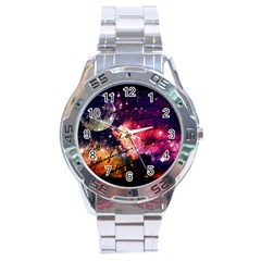 Letter From Outer Space Stainless Steel Analogue Watch