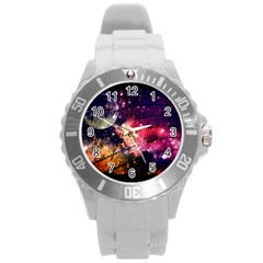 Letter From Outer Space Round Plastic Sport Watch (l)