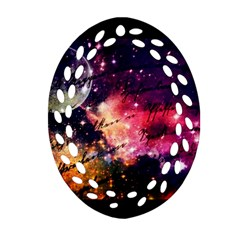 Letter From Outer Space Oval Filigree Ornament (two Sides)