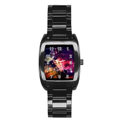 Letter From Outer Space Stainless Steel Barrel Watch