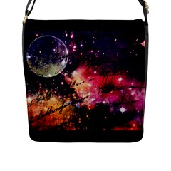 Letter From Outer Space Flap Messenger Bag (l)