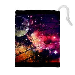 Letter From Outer Space Drawstring Pouches (extra Large)