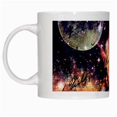 Letter From Outer Space White Mugs