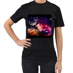 Letter From Outer Space Women s T Shirt (black) (two Sided)