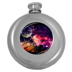 Letter From Outer Space Round Hip Flask (5 Oz)