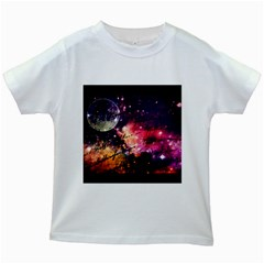 Letter From Outer Space Kids White T Shirts