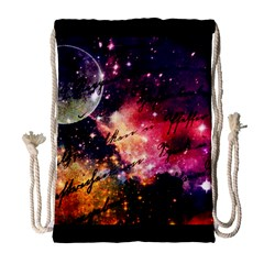 Letter From Outer Space Drawstring Bag (large)