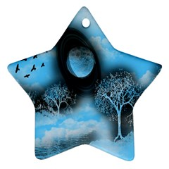Space River Star Ornament (two Sides)