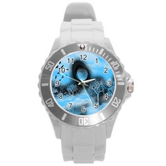 Space River Round Plastic Sport Watch (l)