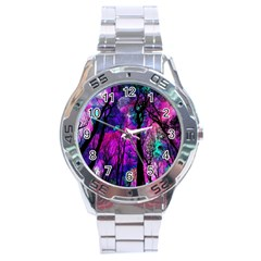Magic Forest Stainless Steel Analogue Watch