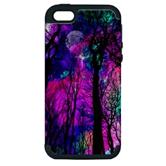 Magic Forest Apple Iphone 5 Hardshell Case (pc+silicone)