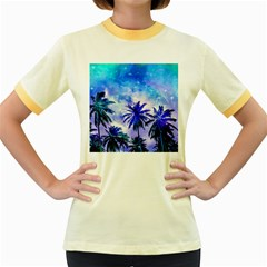 Summer Night Dream Women s Fitted Ringer T Shirts