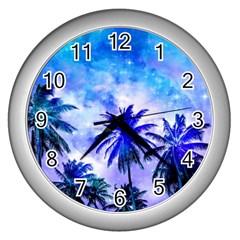 Summer Night Dream Wall Clocks (silver)