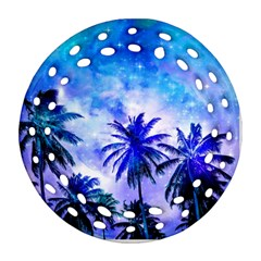 Summer Night Dream Round Filigree Ornament (two Sides)