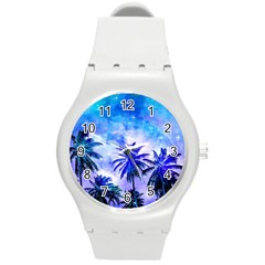 Summer Night Dream Round Plastic Sport Watch (m)