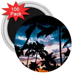 Palm Trees Summer Dream 3  Magnets (100 Pack)