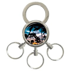 Palm Trees Summer Dream 3 Ring Key Chains