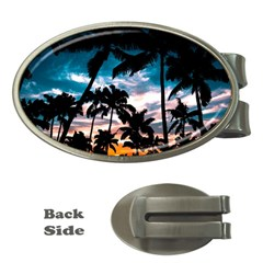Palm Trees Summer Dream Money Clips (oval)