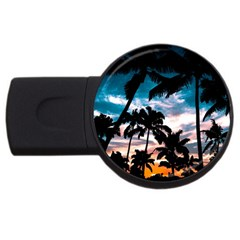 Palm Trees Summer Dream Usb Flash Drive Round (4 Gb)