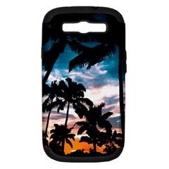 Palm Trees Summer Dream Samsung Galaxy S Iii Hardshell Case (pc+silicone)