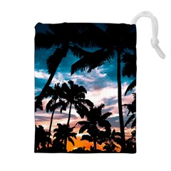 Palm Trees Summer Dream Drawstring Pouches (extra Large)