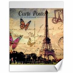 Vintage Paris Carte Postale Canvas 18  X 24