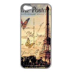 Vintage Paris Carte Postale Apple Iphone 5 Case (silver)