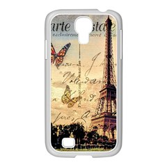 Vintage Paris Carte Postale Samsung Galaxy S4 I9500/ I9505 Case (white)