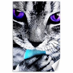 Purple Eyes Cat Canvas 24  X 36