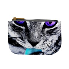 Purple Eyes Cat Mini Coin Purses