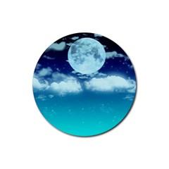 Dreamy Night Rubber Coaster (round)