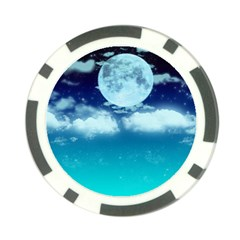 Dreamy Night Poker Chip Card Guard
