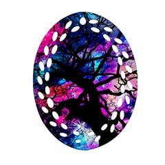 Star Field Tree Ornament (oval Filigree)