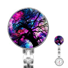 Star Field Tree Stainless Steel Nurses Watch