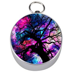 Star Field Tree Silver Compasses