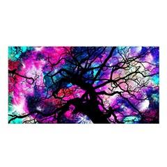 Star Field Tree Satin Shawl