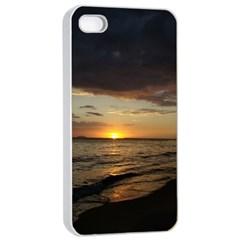 Sunset On Rincon Puerto Rico Apple Iphone 4/4s Seamless Case (white)