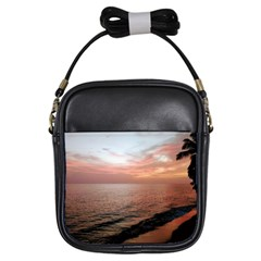 Sunset On Rincon Puerto Rico Girls Sling Bags