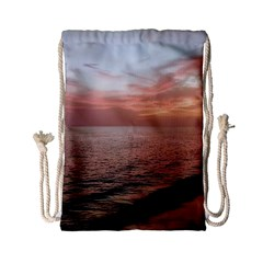Sunset On Rincon Puerto Rico Drawstring Bag (small)